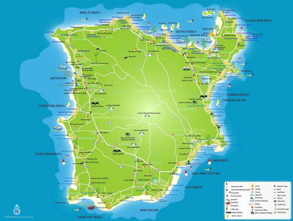 Карта Самуи