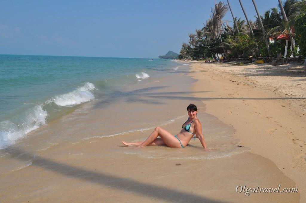 Тихо и пустынно на пляже Банг По