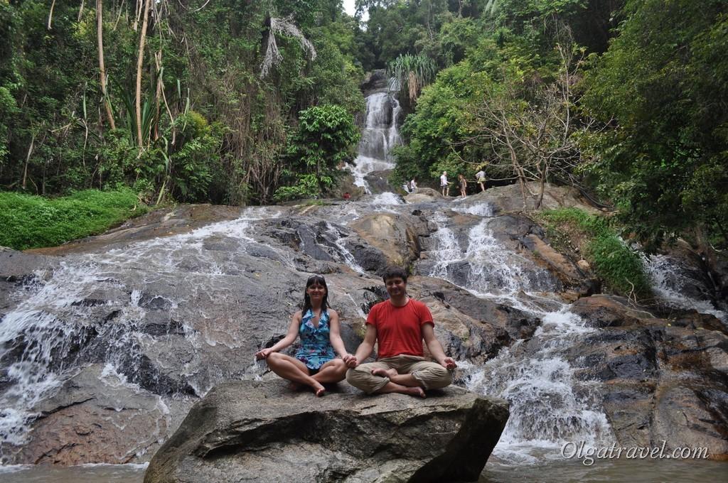 Один из водопадов на Самуи