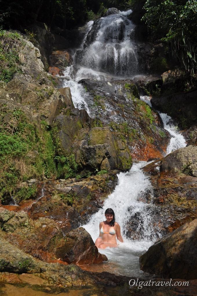 Купание в водопаде Намуанг 2