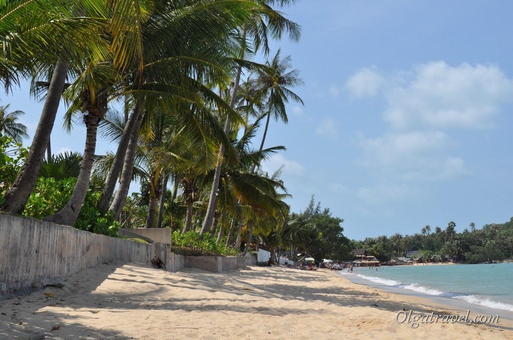 Пляж Бопут возле отелей Free House Bungalow и Cactus Bungalow