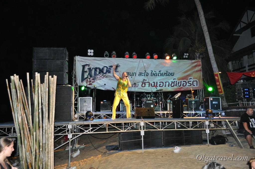 Концерт на пляже Маенам на Китайский Новый год