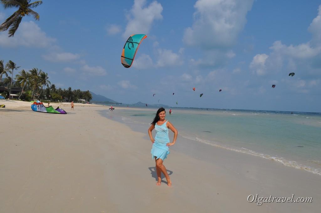 Пляж для любителей кайт серфинга