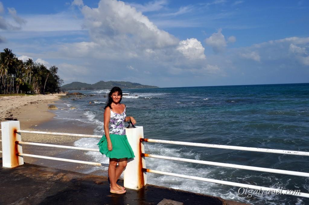 Вид на пляж Банг Као