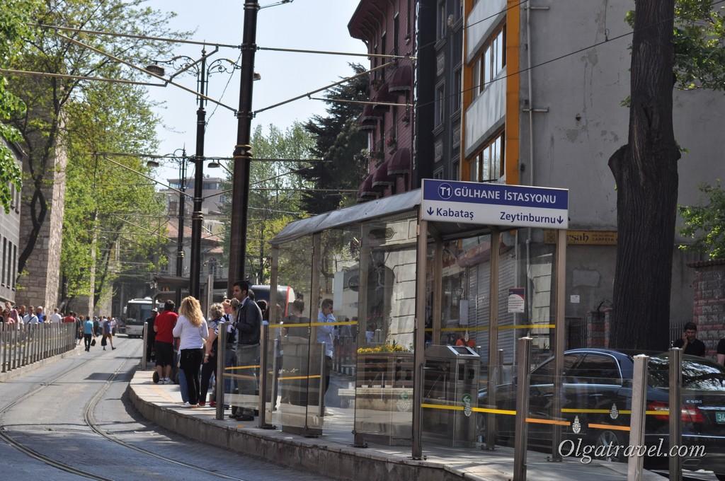 Gulhane остановка трамвая