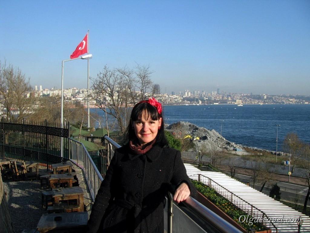 Gulhane park, вид на Босфор