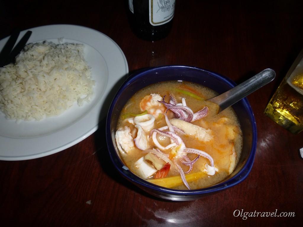 Один из самых вкусных Том Ямов, попробованных мной в Таиланде