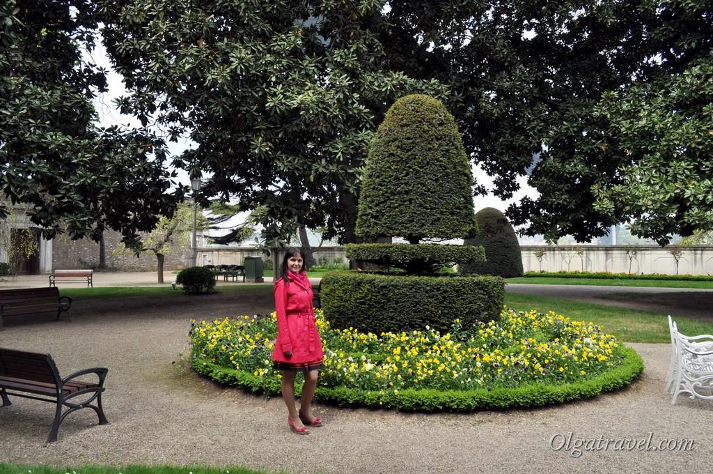 Сад дворца Бейлербей