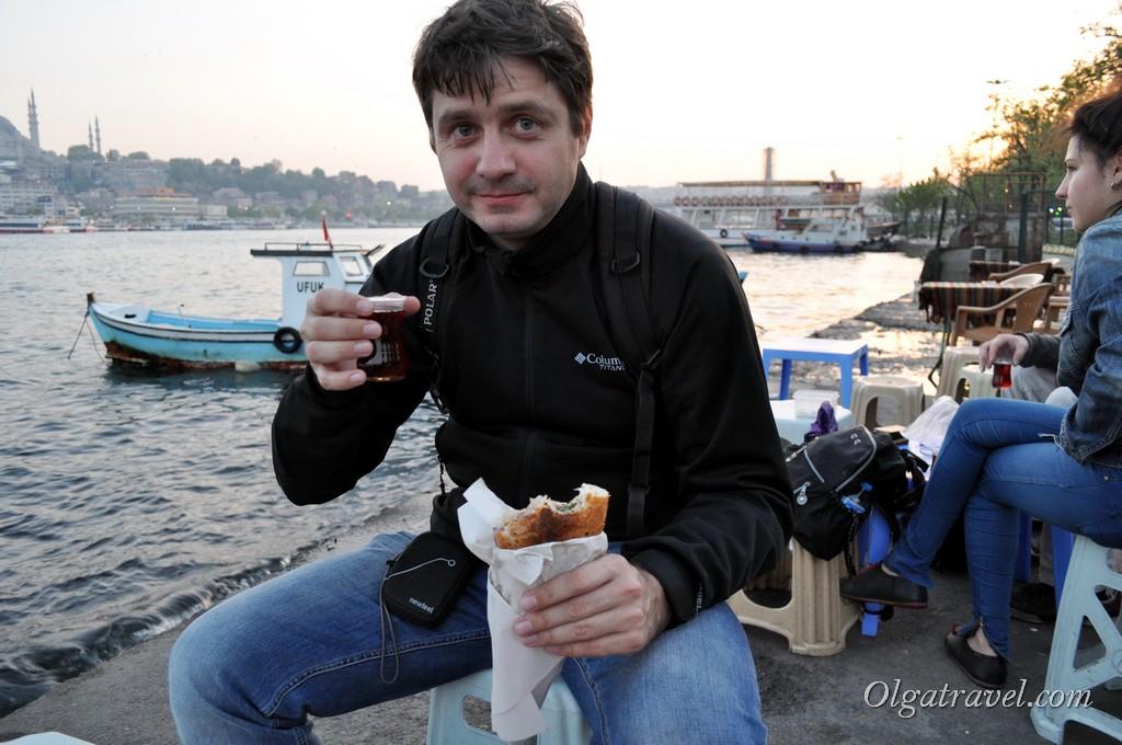 Вкусная рыбка возле Галатского моста
