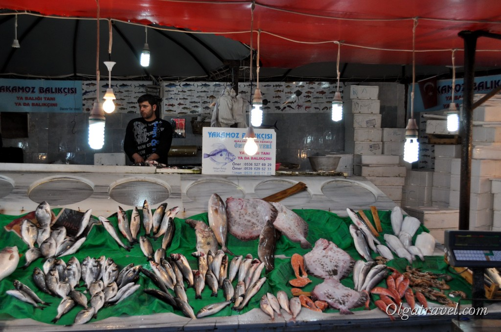 Galata Bridge fish market 3