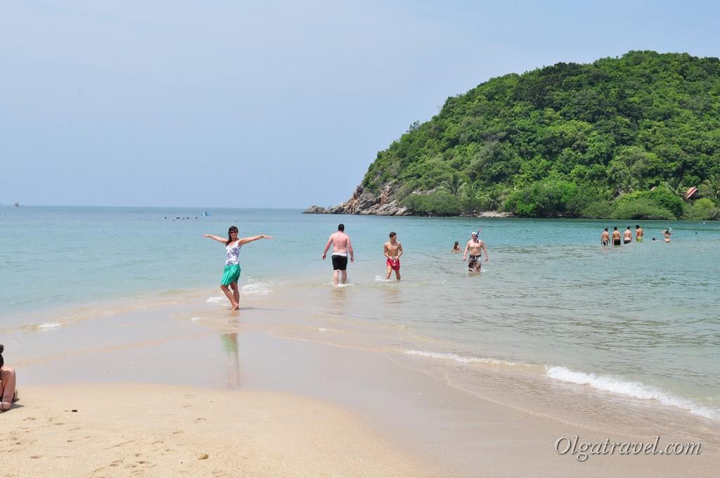 По косе можно дойти до острова Ко Ма