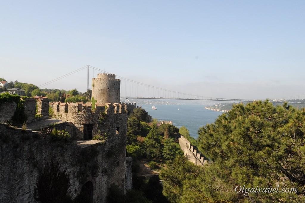 Крепость Румели Хисары и второй Босфорский мост