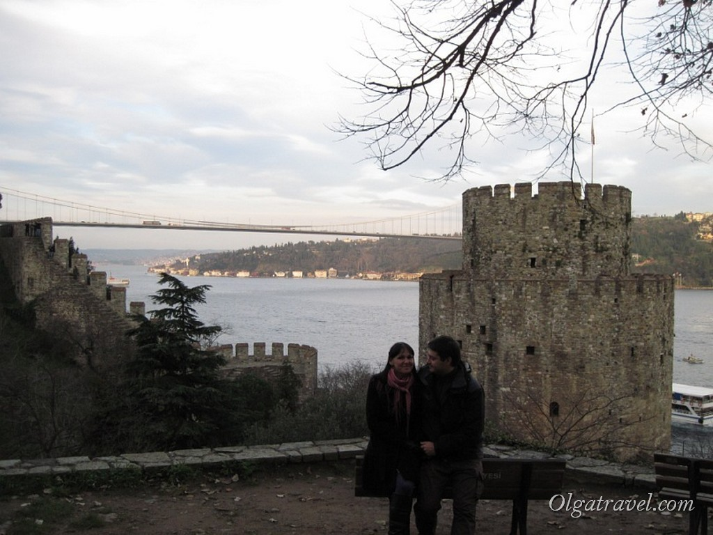 В крепости Румели Хисары в январе 2011