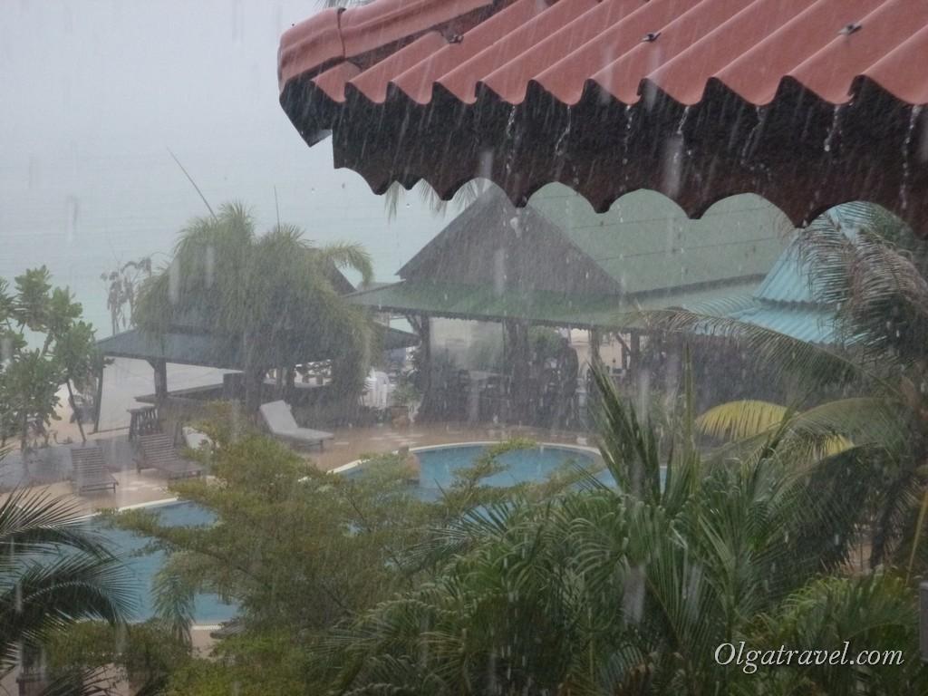 Начался очень сильный дождь!