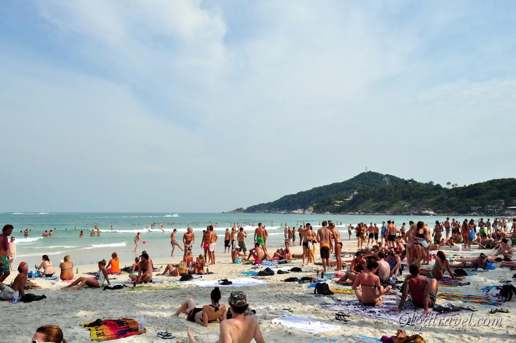 Пляж Хаад Рин за день до Full Moon Party