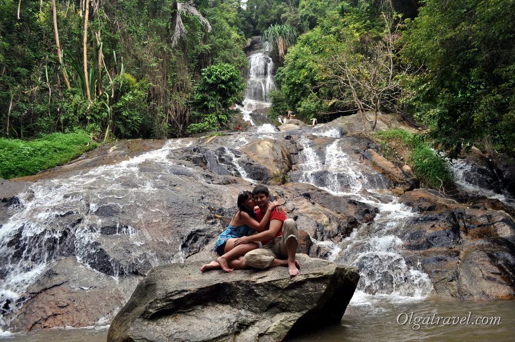 Водопад Намуанг 2 - вид с самого нижнего уровня