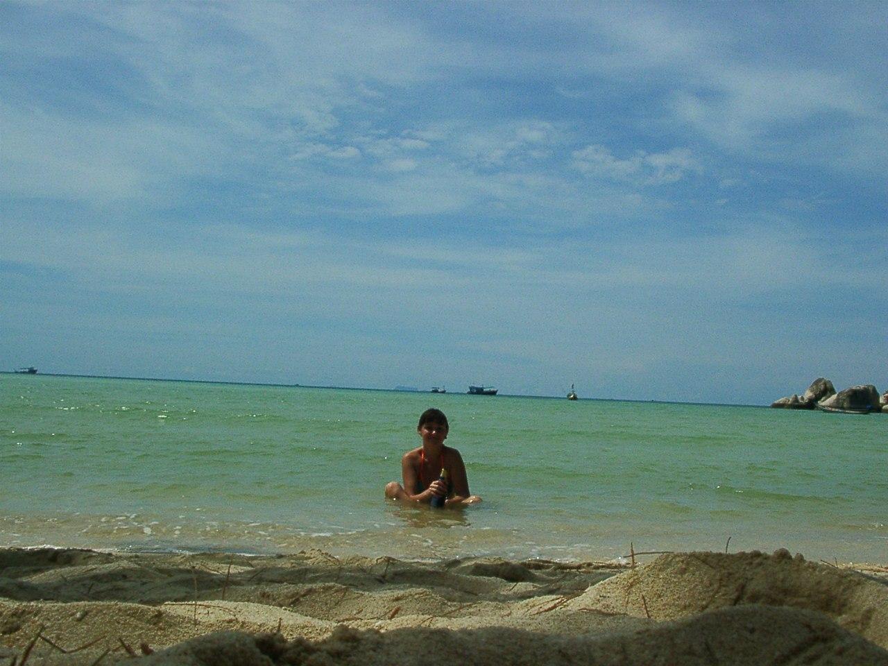 Мой первый Азиатский пляж - Чалок, Ко Тао, 2005 год
