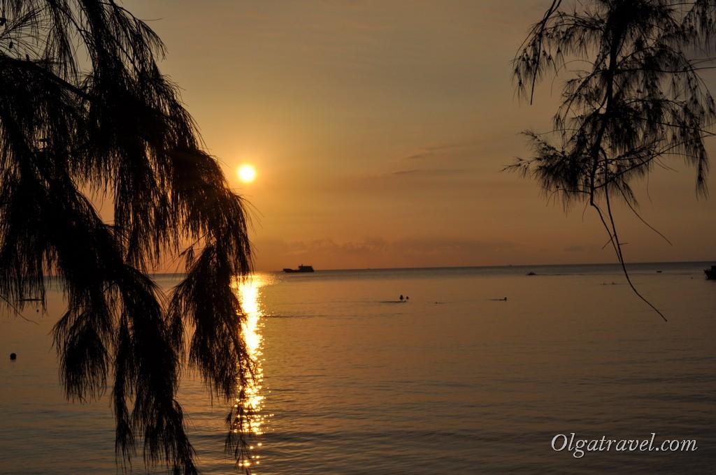 Наш последний закат на Ко Тао :)