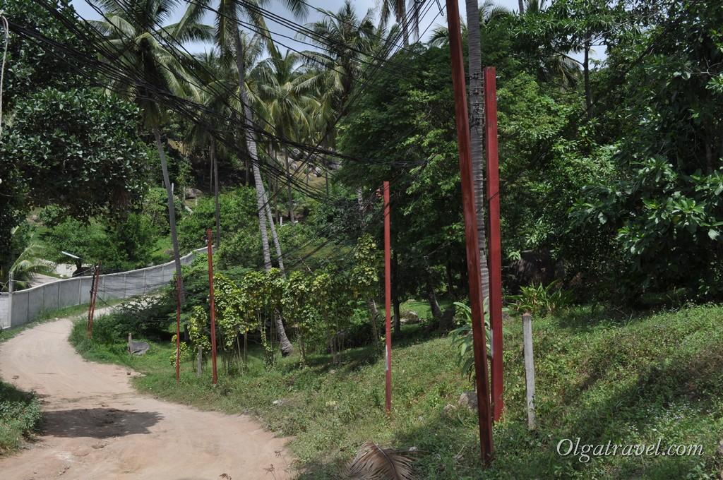 дорога на пляж Mango Bay