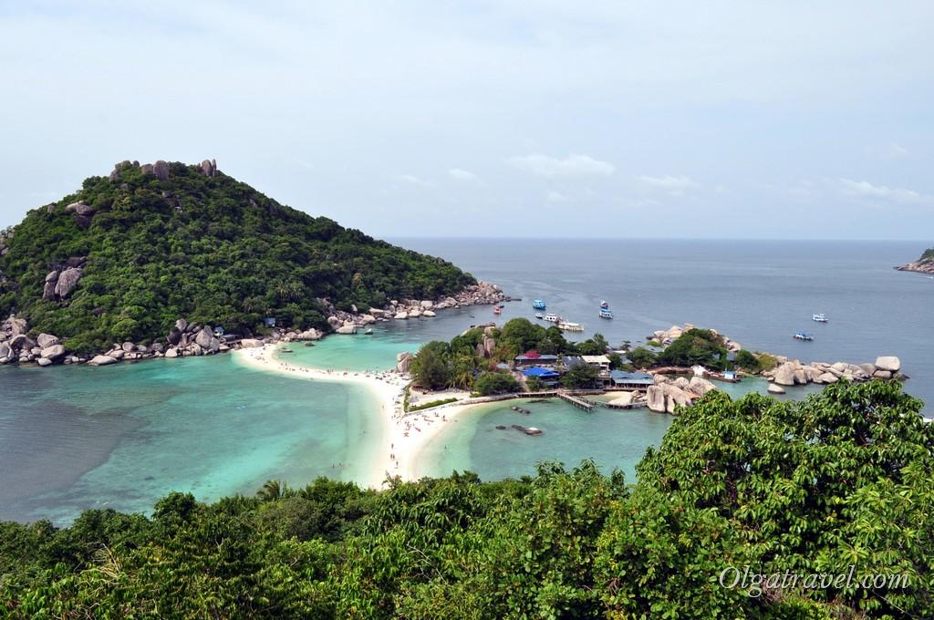 Остров Нанг Юань - вид со смотровой площадки