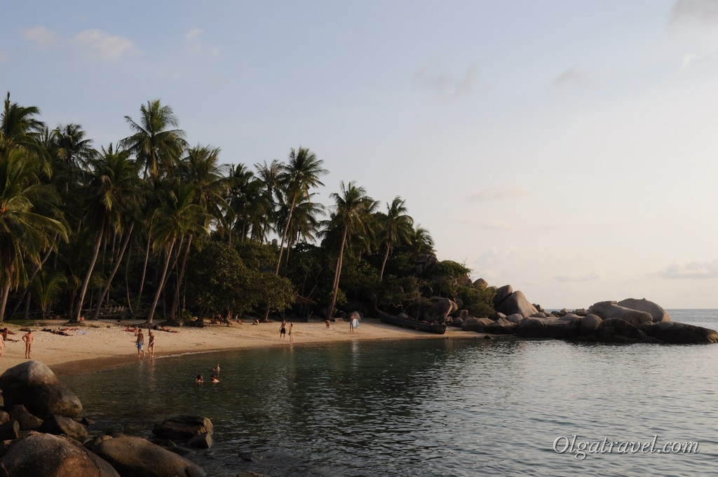 Пляж Sai Nuan Beach перед закатом