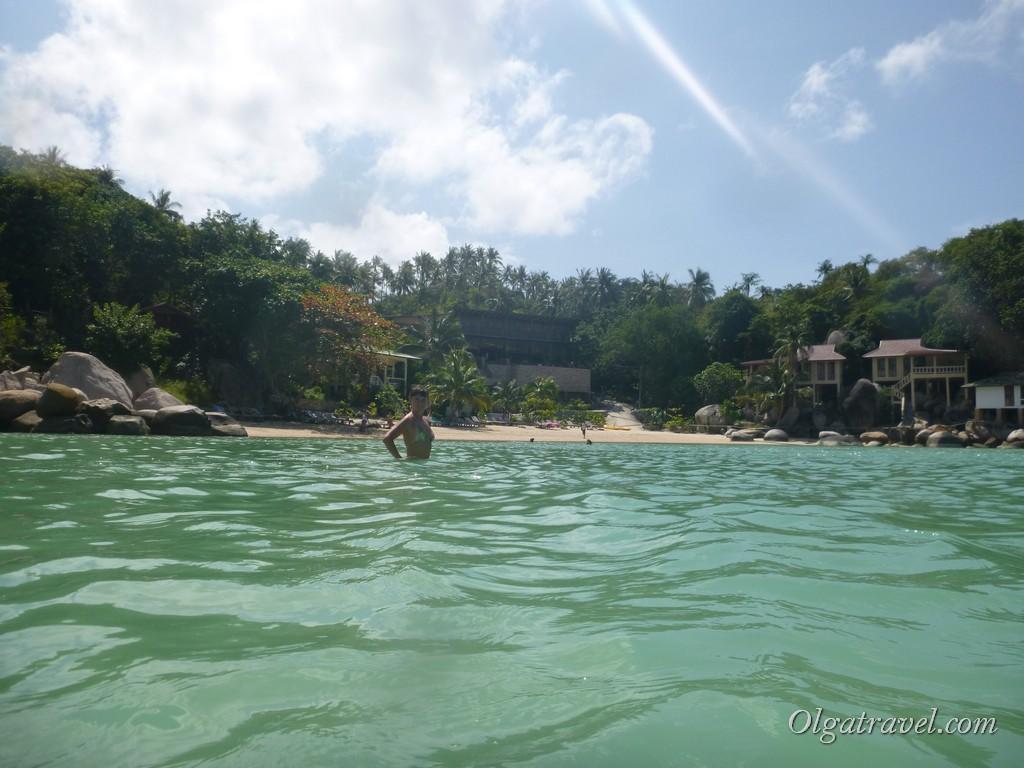 Переход по воде с пляжа Chalok в Taa Toh Bay