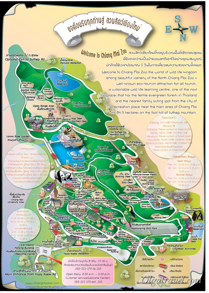 Chiang Mai Zoo map