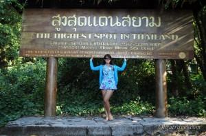 Самая высокая точка Таиланда находится в национальном парке Дои Интханон
