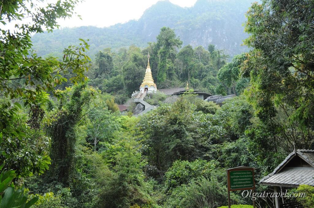 Храм Wat Tham Pha Plong находится высоко на горе - очень умиротворенное место
