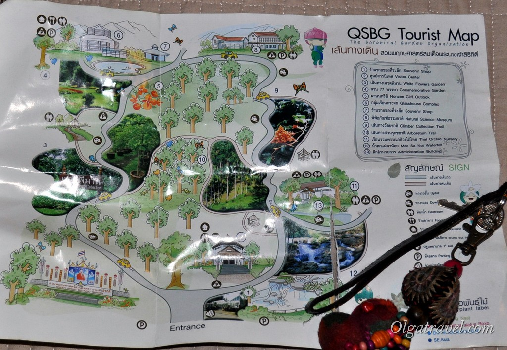 Queen Sirikit Botanic garden map