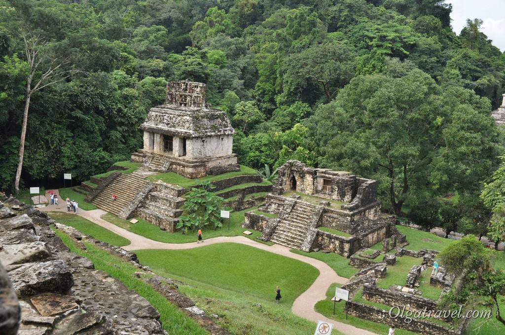 Археологический комплекс Паленке в джунглях