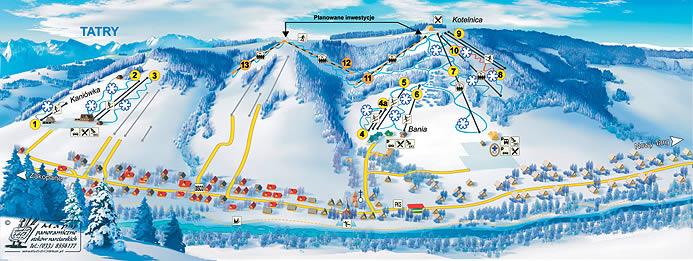 Схема трасс в Бялка Татранска