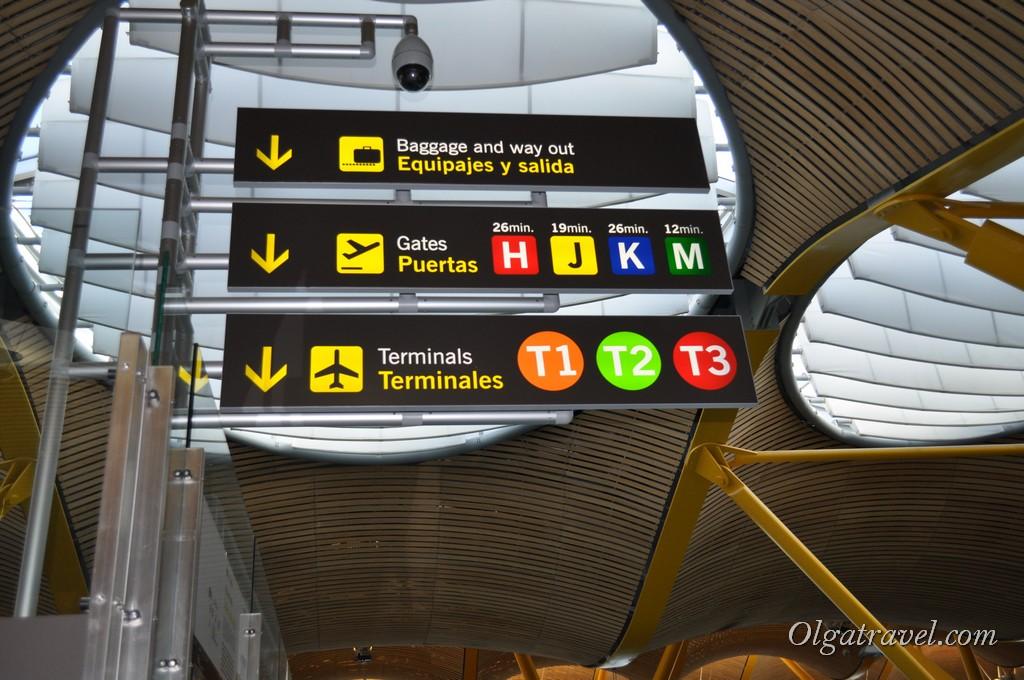 аэропорт Мадрид Время в пути