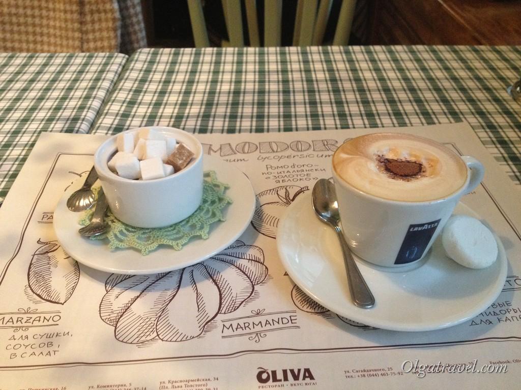 Мое любимое кафе Олива
