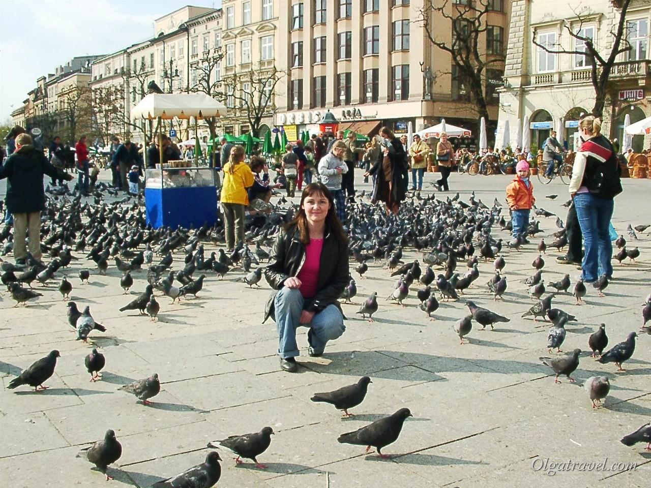 Площадь Рынок в Кракове, май 2005