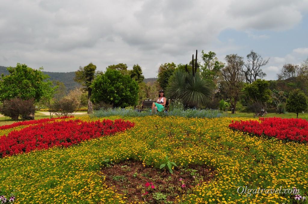Огромный ботанический сад не далеко от Чианг Мая в горах