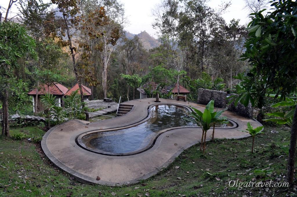 Бассейн с горячей водой - Pong Duaet Hot Springs