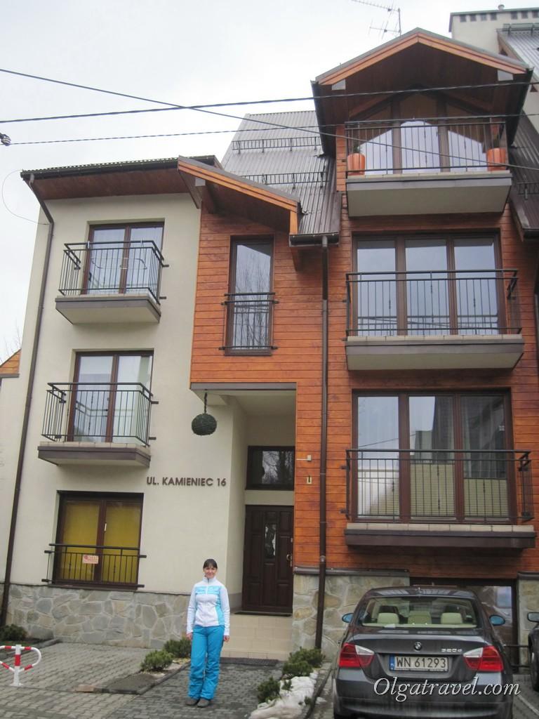 Дом, в котором находилась наша квартира в Закопане