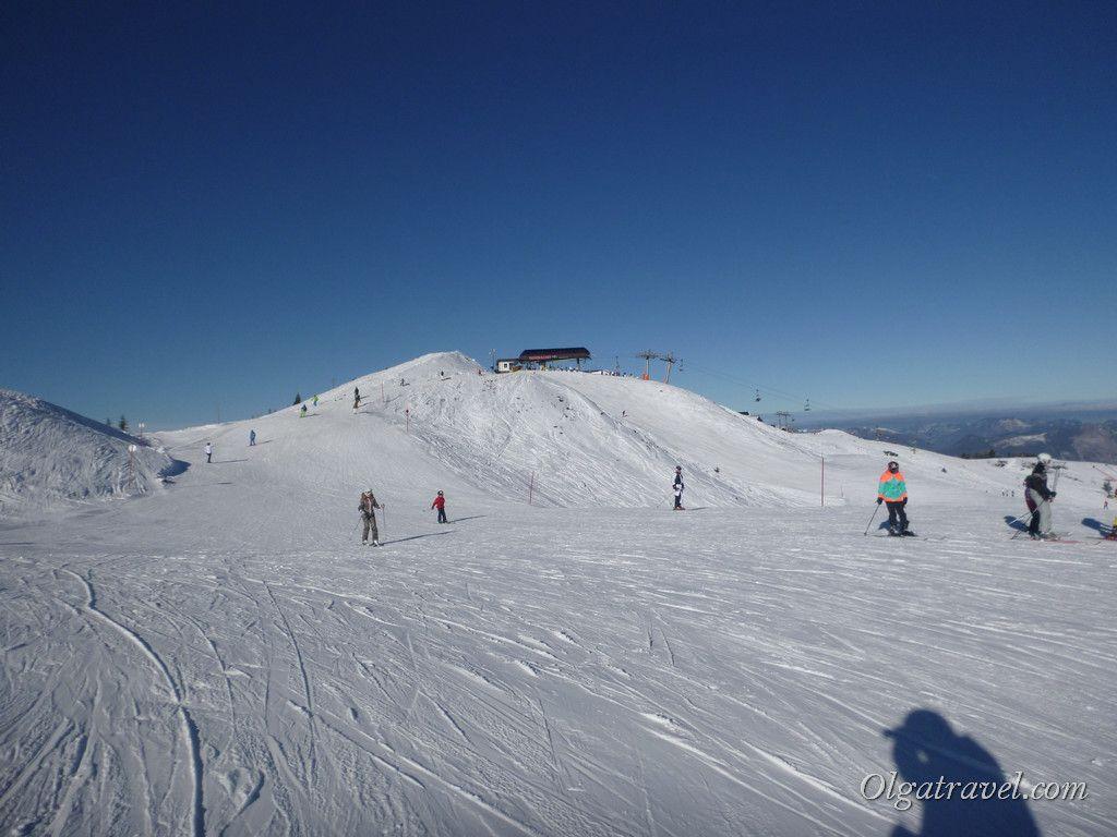 Широченные трассы в этой части Ski Juwel
