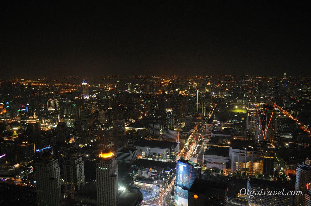 Вид на Бангкок ночью