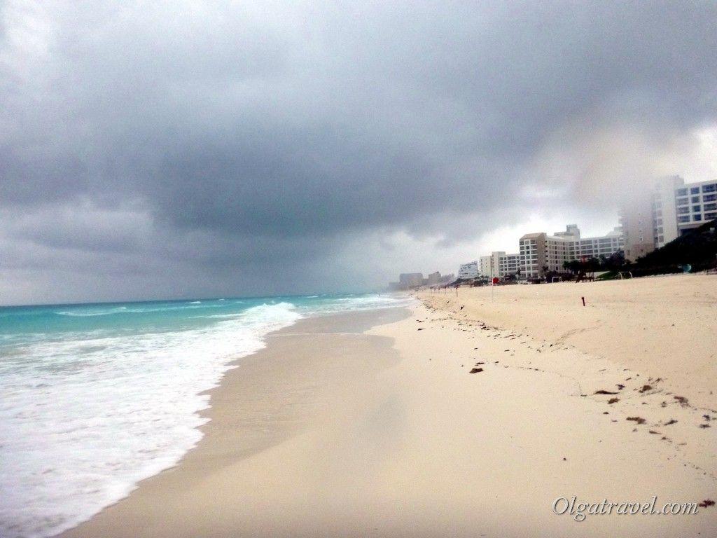 Бирюзовое Карибское море остается таким даже в шторм!