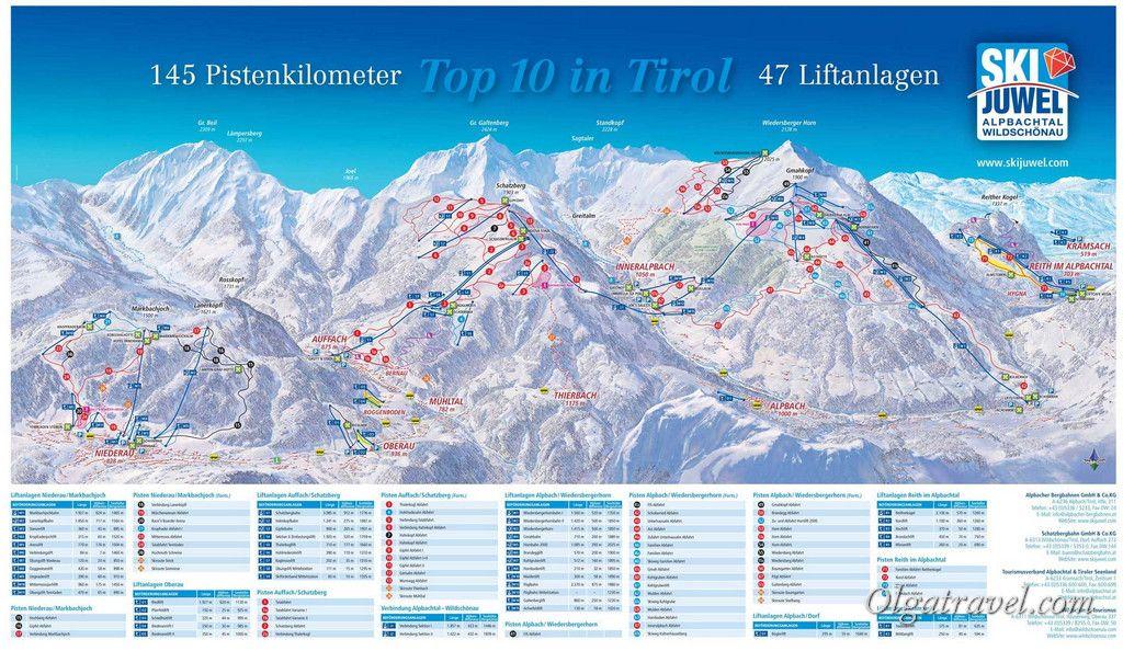 Схема трасс Ski Juwel