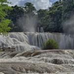 Водопады в Мексике: Мисоль-Ха (Misol Ha) и Агуа Азул (Agua Azul) возле Паленке, штат Чьяпас
