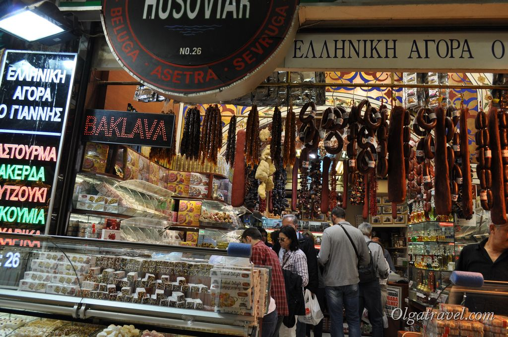На Египетском базаре можно купить много всего вкусного :)