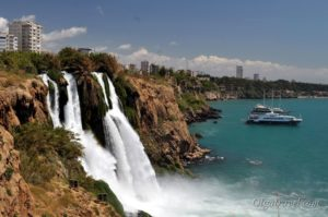 Нижний водопад Дюден в Анталии
