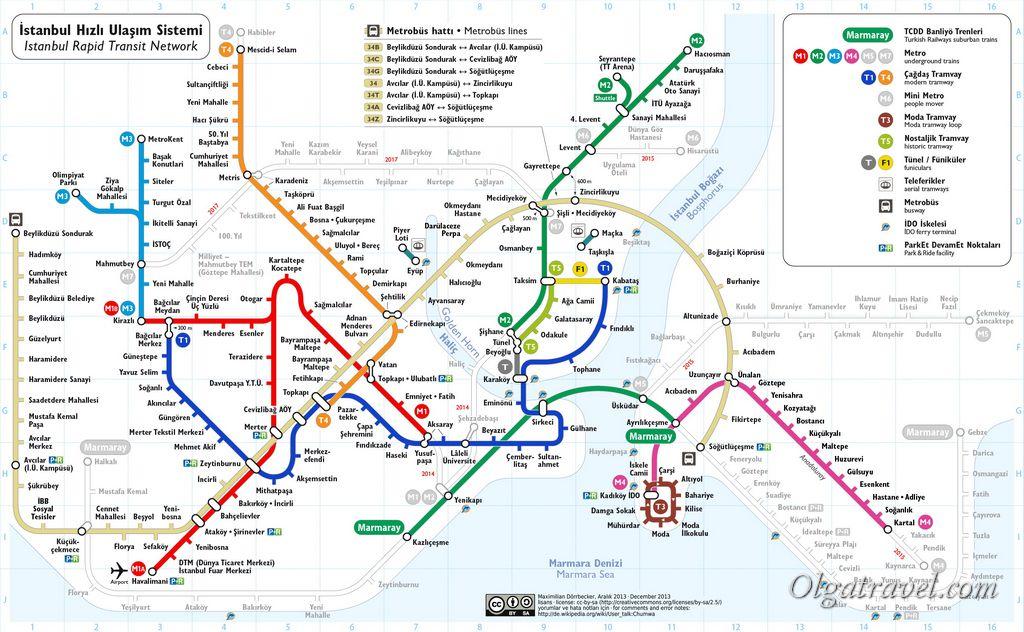 Вот схема метро Стамбула