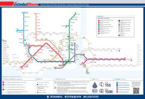 Схема метро Стамбула на сентябрь 2016