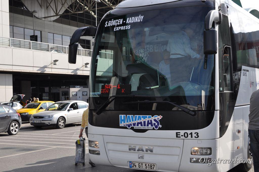 Автобус из аэропорта Сабиха Гекчен в Кадыкёй