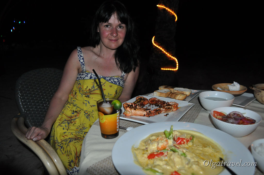 Ужин с дешевыми коктейлями на пляже Малапаскуа