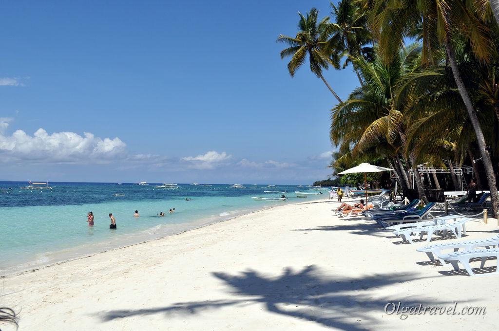 Пляж Алона бич (Alona Beach) на острове Панглао